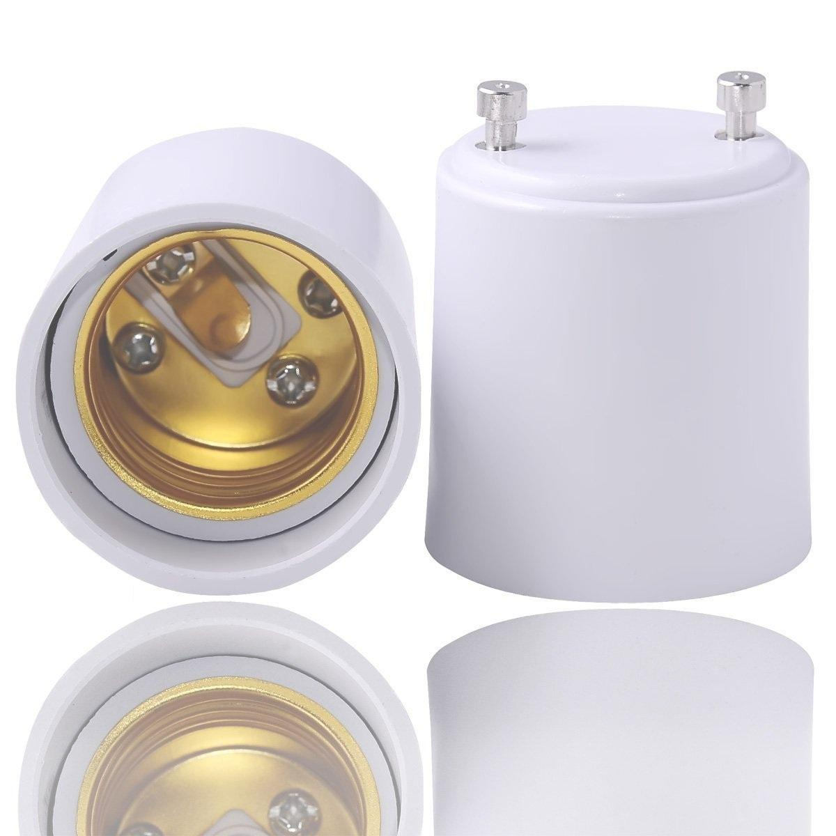 Jackyled Gu24 To E26 E27 Adapter Pack Of 10 Maximum