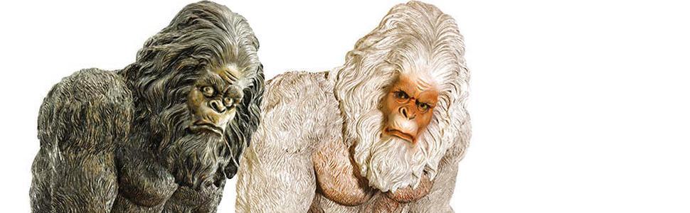 bigfoot statue, yeti statue, bigfoot ornaments