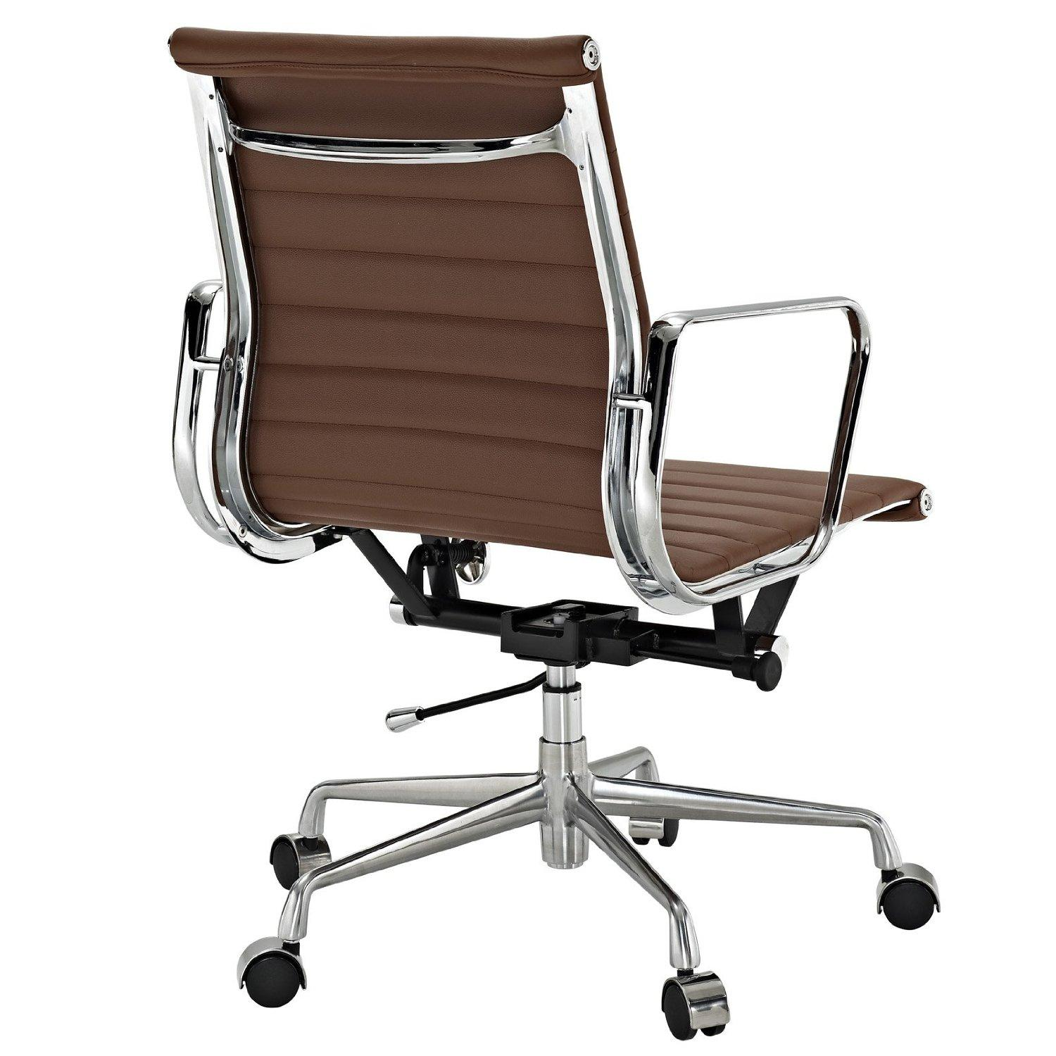 Amazon.com: Ribbed Mid Back Office Chair in Terracotta