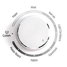 Smart Set dial, easy material settings