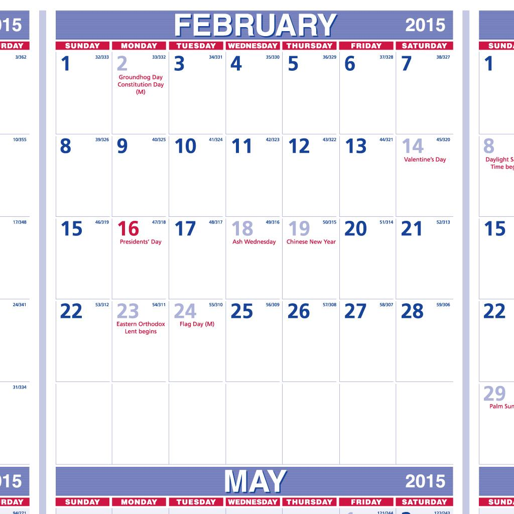 4 Ways To Make The Most Of Your Cv S Top Quarter: Amazon.com : AT-A-GLANCE Yearly Wall Calendar 2015, 24 X 36 Inch Page Size (PM12-28) : Office