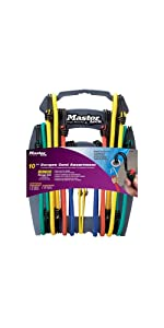 Master Lock 3043DAT Twin-Wire Bungee Cords with Organizer, 10-Pack