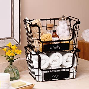Superbe Mikasa Gourmet Basics, Kitchen Storage, Wire Racks, Metal Baskets, Fruit  Basket,