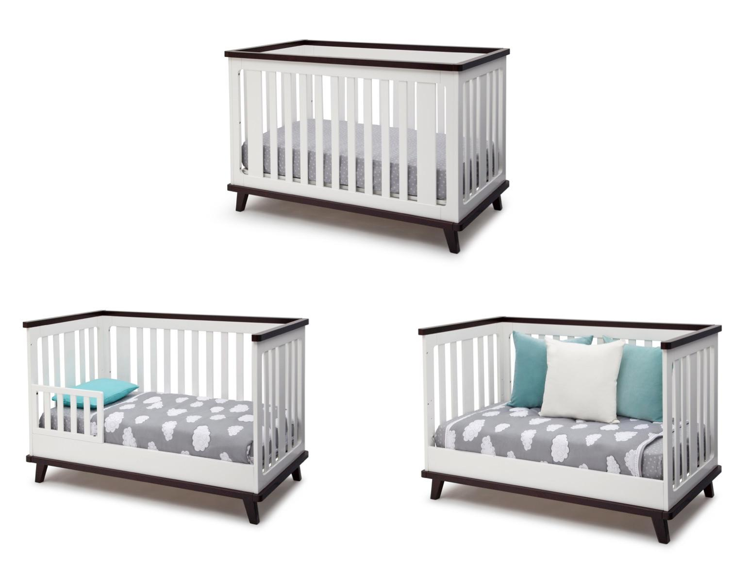 amazoncom  delta children ava in convertible crib white  - view larger