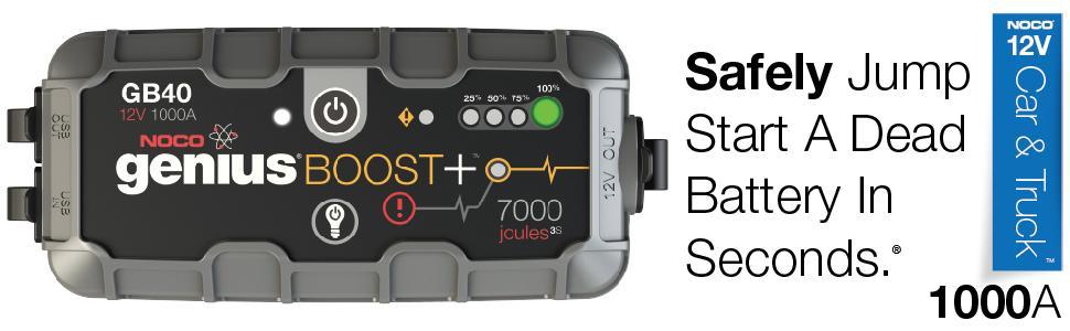 noco, gb40, 1000 amp, safe jump starter, lithium