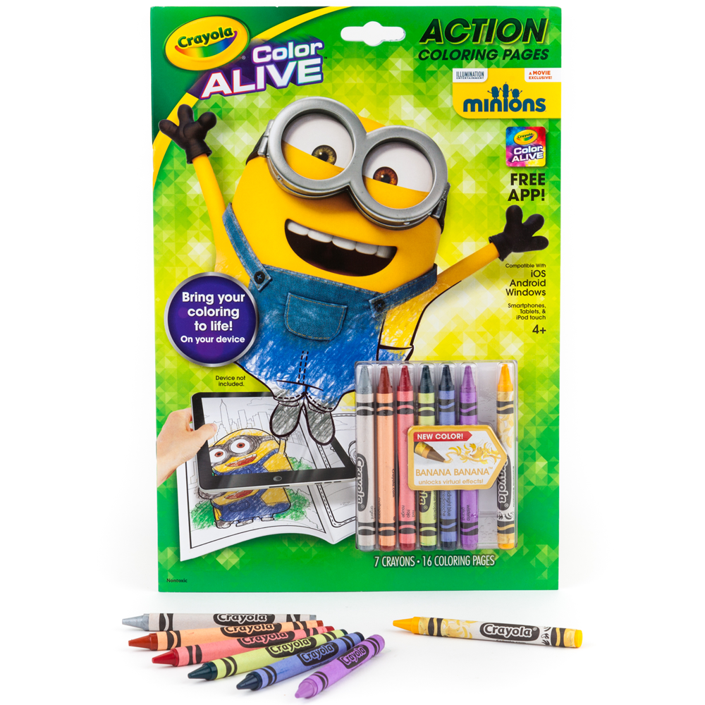 Crayola color alive animated minions pages for Crayola color alive coloring pages
