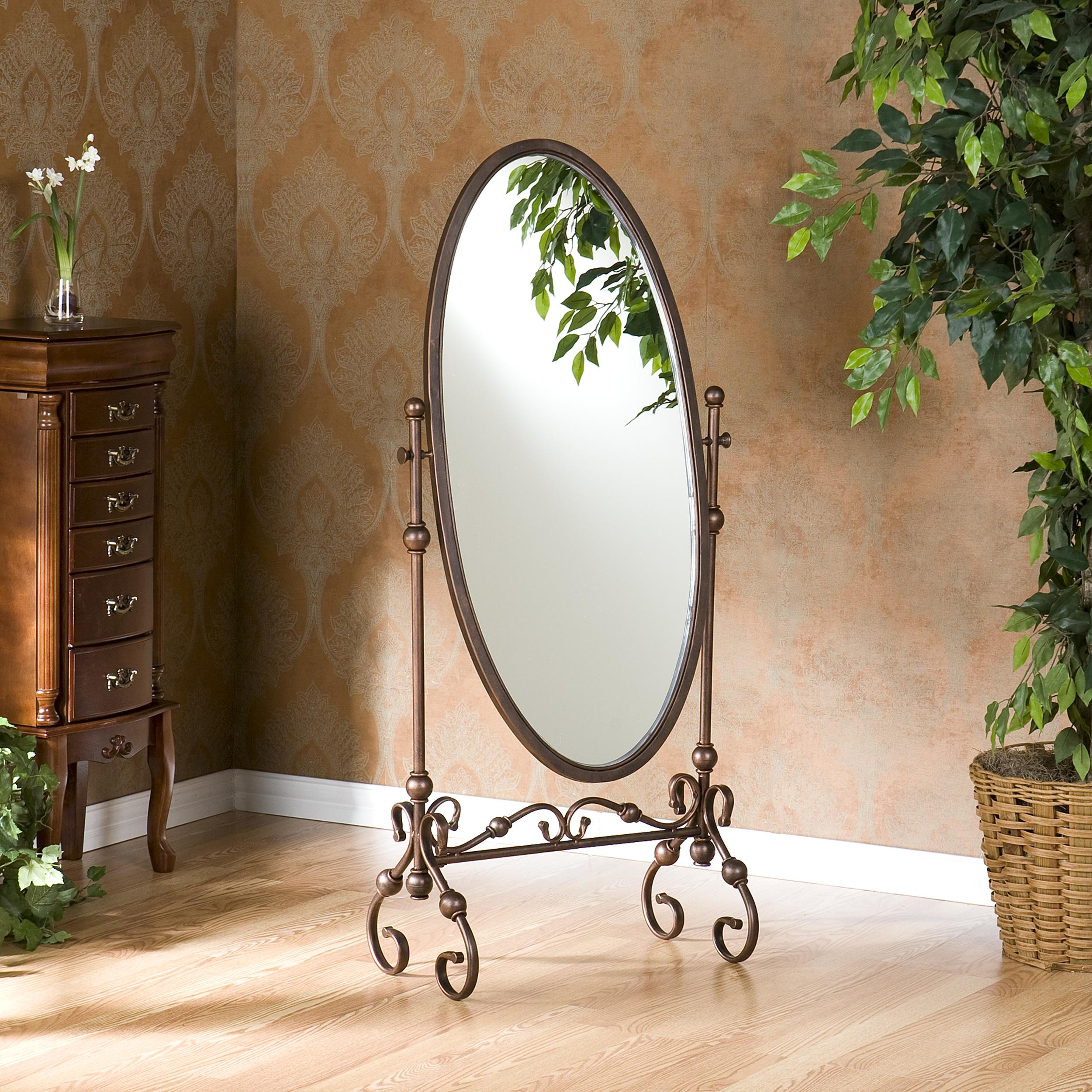 Amazon.com: Southern Enterprises Lourdes Cheval Oval Free Standing ...
