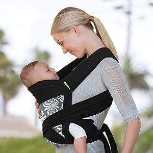 Amazon.com : Infantino Sash Mei Tai Carrier, Black/Gray : Child ...