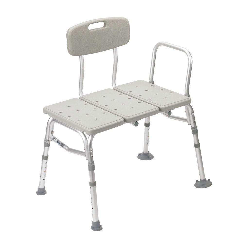 Amazon.com: Drive Medical Three Piece Transfer Bench, Gray: Health ...