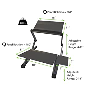 workez standing desk affordable sit stand up conversion