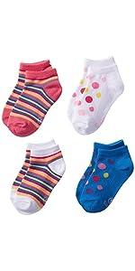 Amazon.com: Hanes Girls' 4 Pack Classics Low-Cut Ankle Socks: Clothing