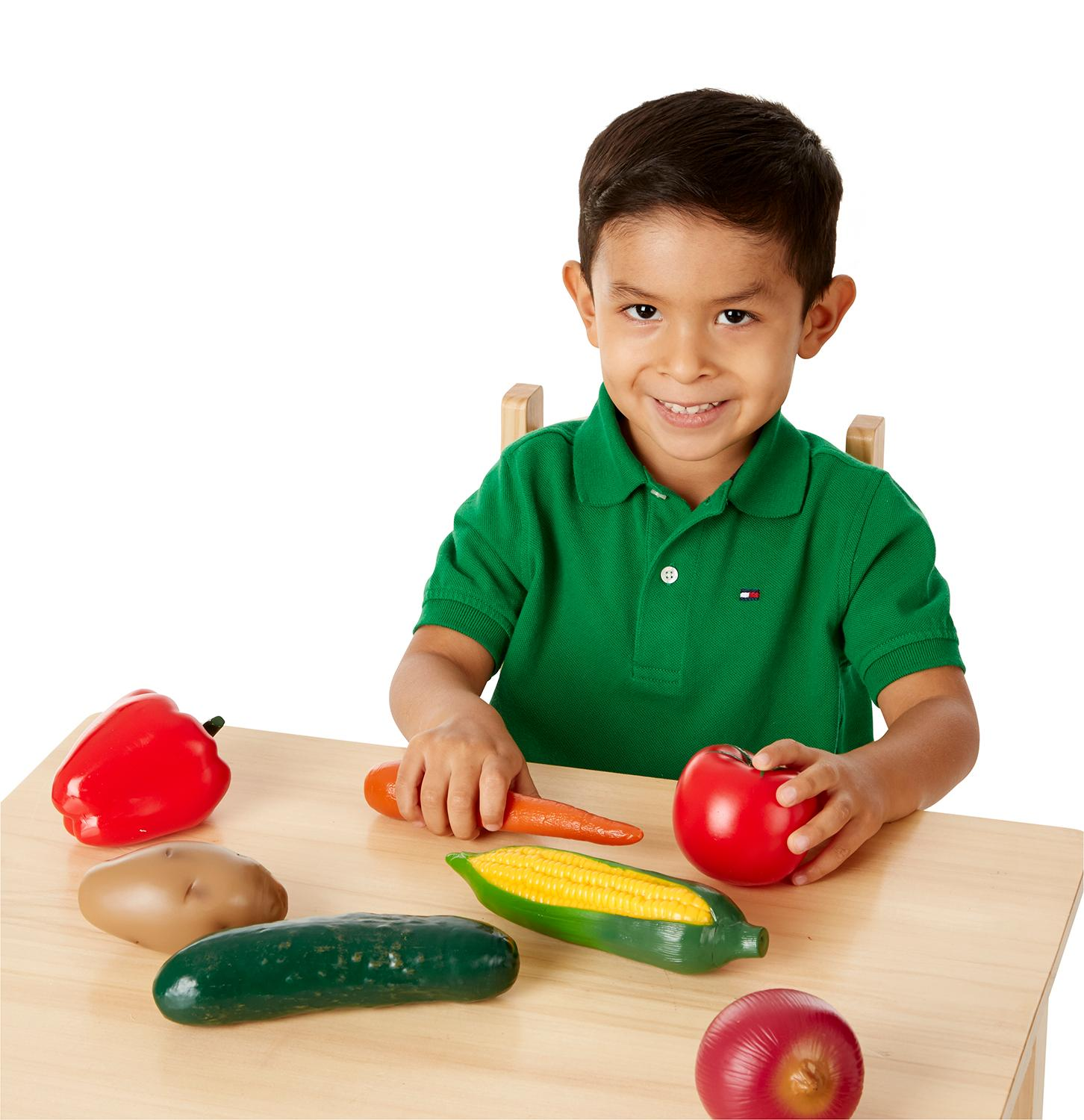 Melissa & Doug Playtime Produce Vegetables Play Food Set With Crate (7