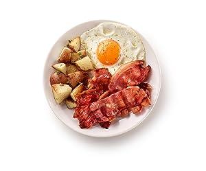micorwave bacon, cooked bacon, no mess bacon