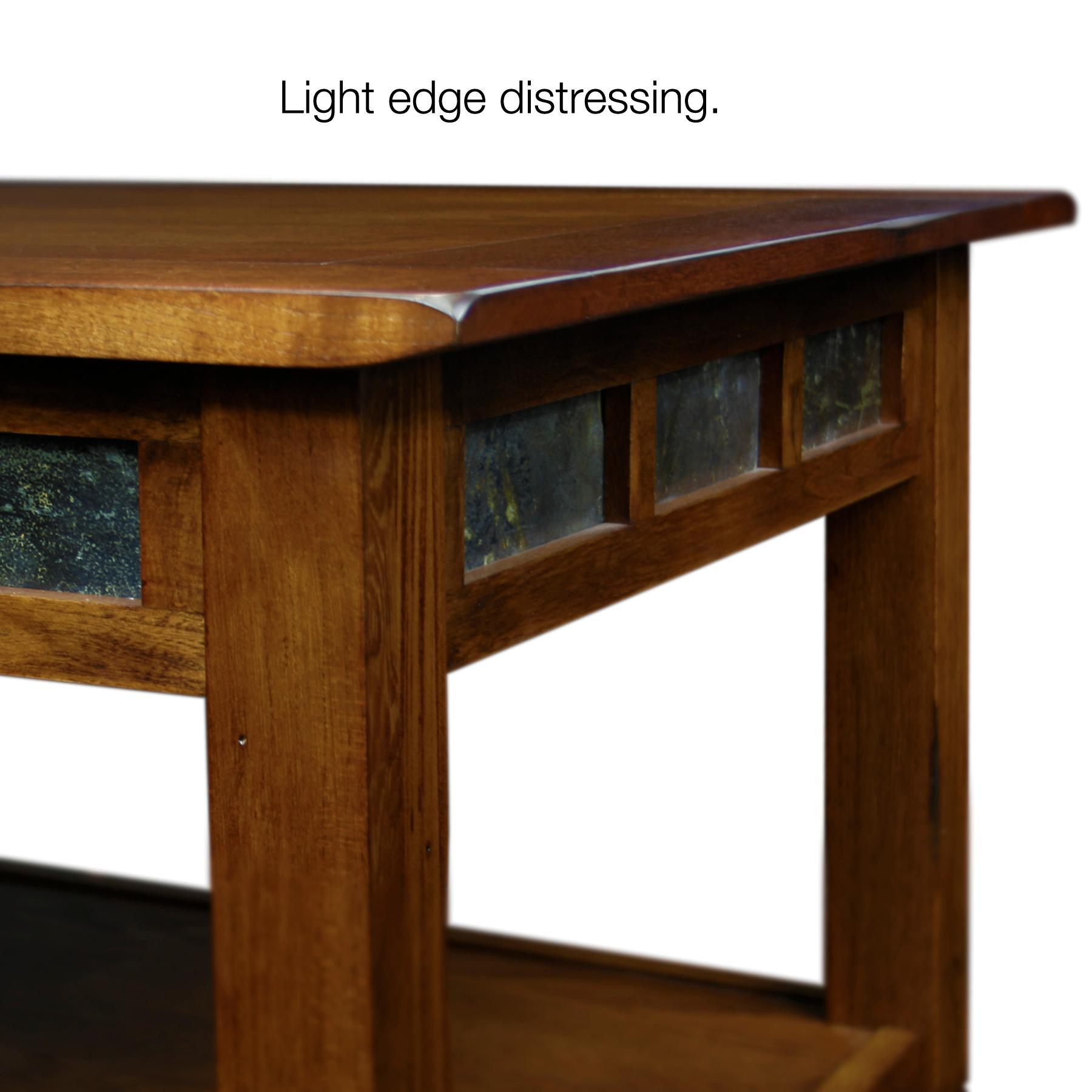 Slatestone Oak Storage Coffee Table Rustic Oak Finish Kitchen Dining