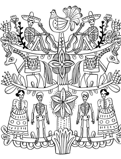 Just Add Color: Day of the Dead: 30 Original Illustrations To ...