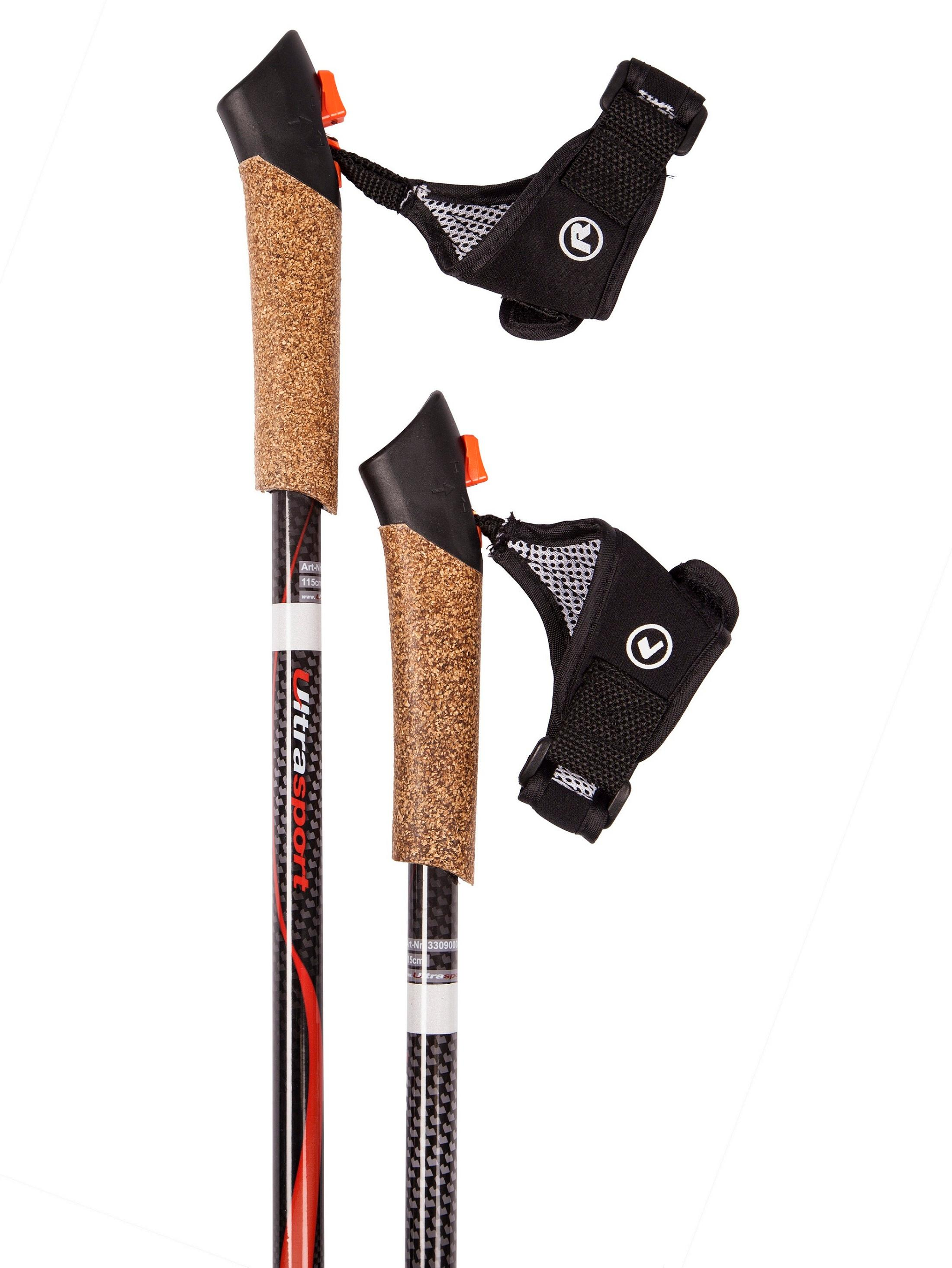 Amazon Com Ultega Carbon Nordic Walking Poles With Cork