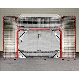 hockey net, hockey goals, pucks, backstop, rebounder