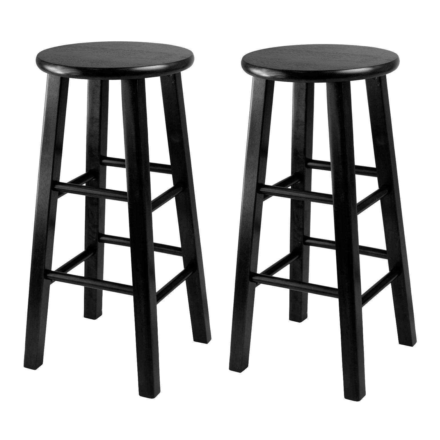 Amazon Winsome 24 Inch Square Leg Counter Stool Black Set