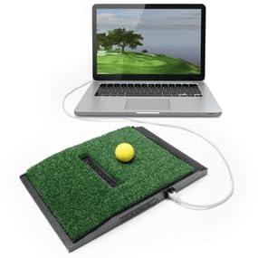 OptiShot swing pad with laptop