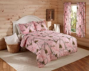 Realtree Ap Pink Camo Comforter Set King