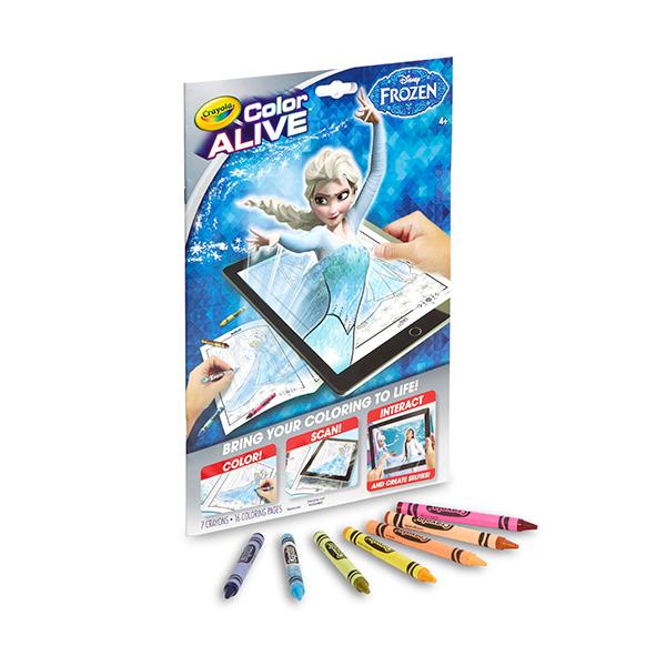 Amazon.com: Crayola Frozen Color Alive Action Coloring Pages: Toys ...