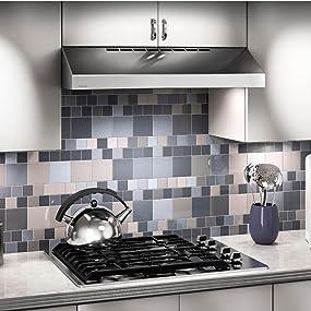 Broan QML Series Under-Cabinet Convertible Range Hood Life style image.