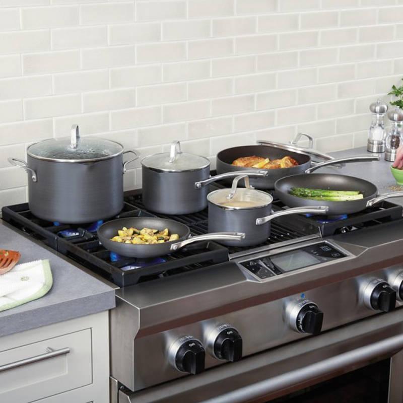 Calphalon 1943338 10 Piece Classic Nonstick Cookware Set Grey Ebay