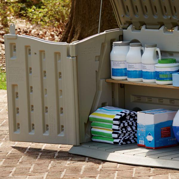 Amazon.com : Rubbermaid Outdoor Split-Lid Storage Shed, 18