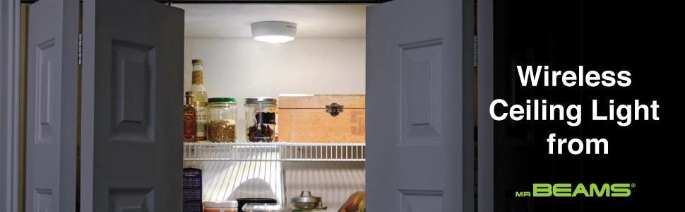 Wireless Led Ceiling Light, Closet Lighting, Ceiling Light Fixture, Battery  Powered Ceiling Lights
