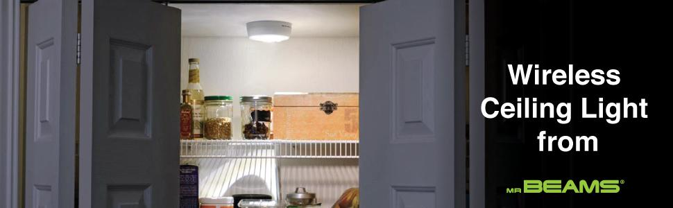wireless led ceiling light closet lighting ceiling light fixture battery powered ceiling lights & Mr. Beams MB980 Wireless Battery-Operated Indoor/Outdoor Motion ... azcodes.com