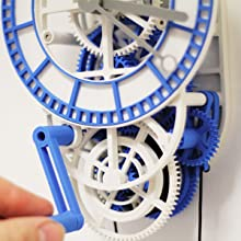 This mechanical clock demonstrates that 3D printing is not just for decoration.