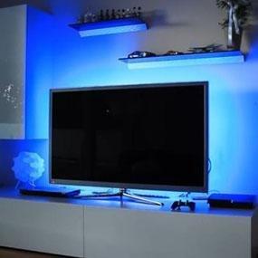 led multi color tv bias lighting backlight strip for 32 to 60 flat hdtv etl. Black Bedroom Furniture Sets. Home Design Ideas