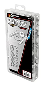 Performance Tool W5334 Zinc Nuts and Bolts Assortment