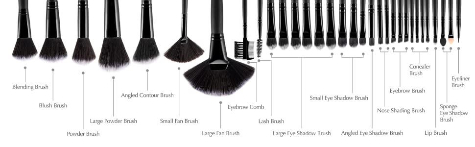 Uspicy makeup brushes names