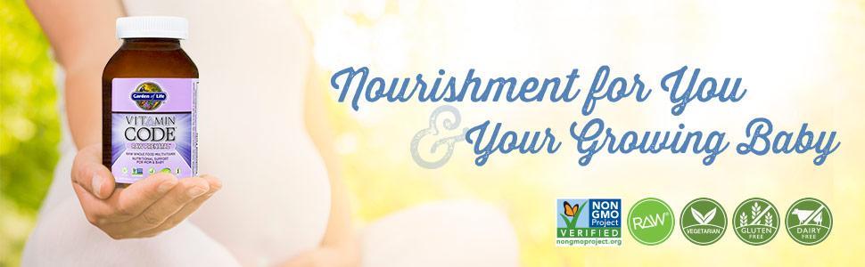 Garden Of Life Vegetarian Prenatal Multivitamin Supplement With Folate Vitamin