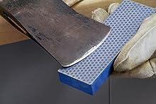 6-inch Diamond Whetstone coarse sharpening a hatchet