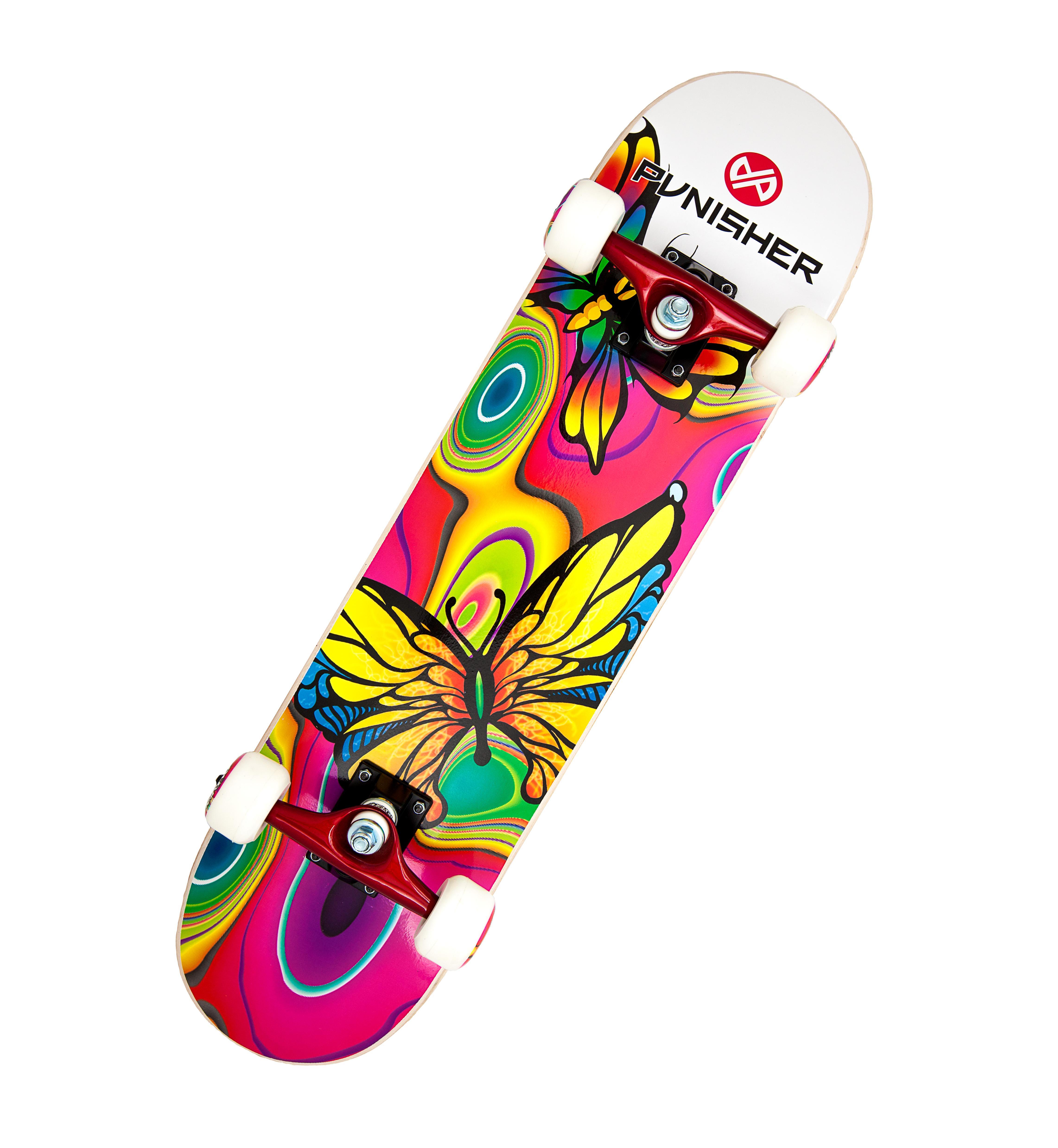 amazoncom punisher skateboards butterfly jive complete
