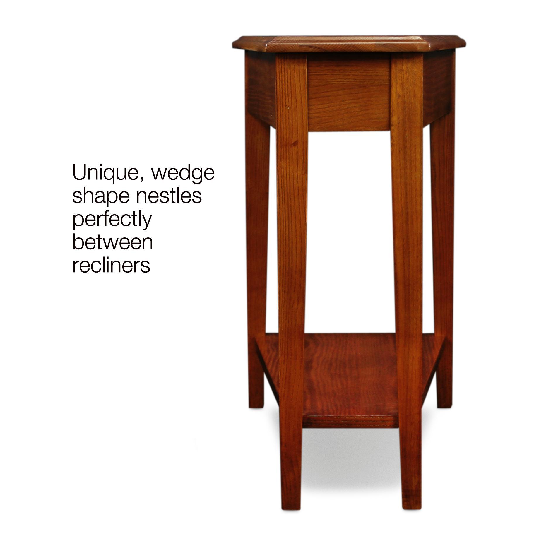 Amazon Com Leick Recliner Wedge End Table Medium Oak