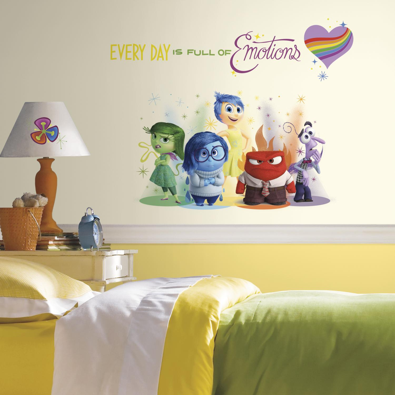 RoomMates RMK2999TB Inside Out Burst Peel and Stick Giant Wall Decals, 6 Count