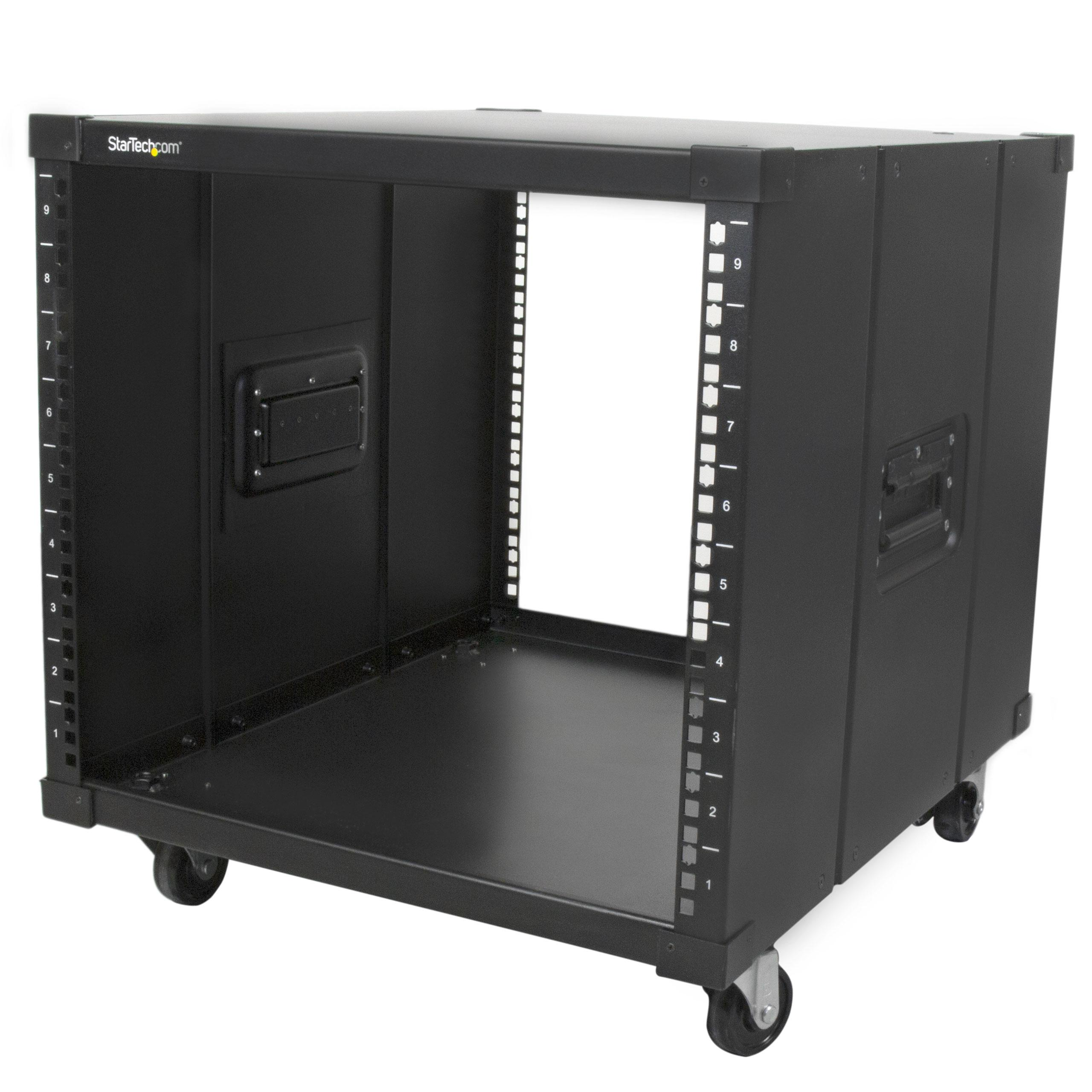 Portable Network Racks With Ups : Amazon startech portable server rack with handles