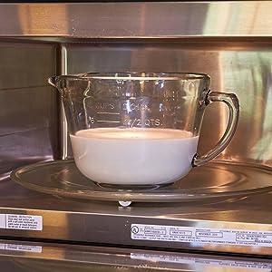 anchor hocking; glassware; glass; batter bowl; microwave safe; heat up; warming