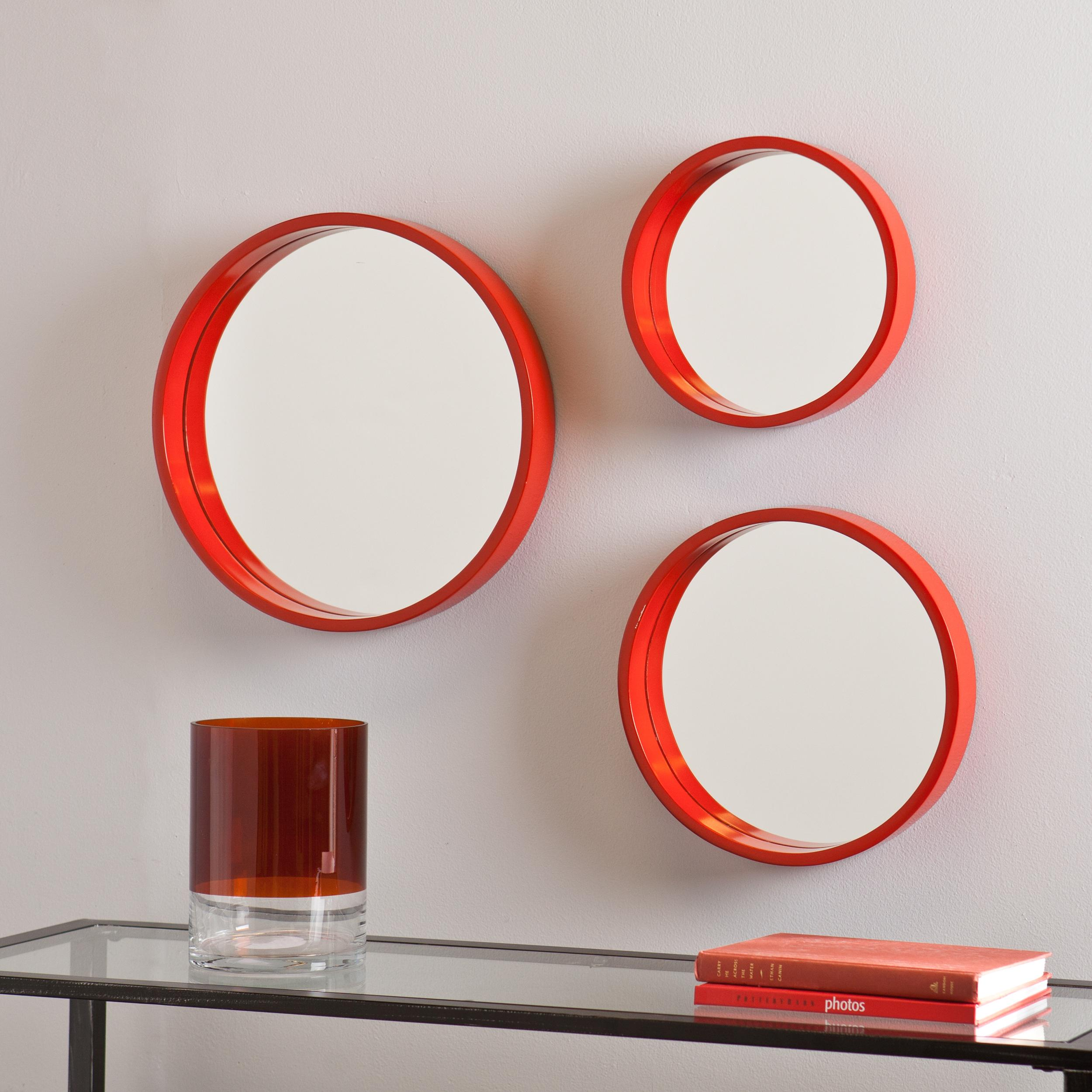 Amazon holly martin daws wall mirror 3pc set red orange view larger amipublicfo Choice Image