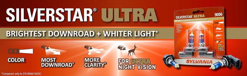 silverstar ultra; sylvania; downroad; sideroad; brighter