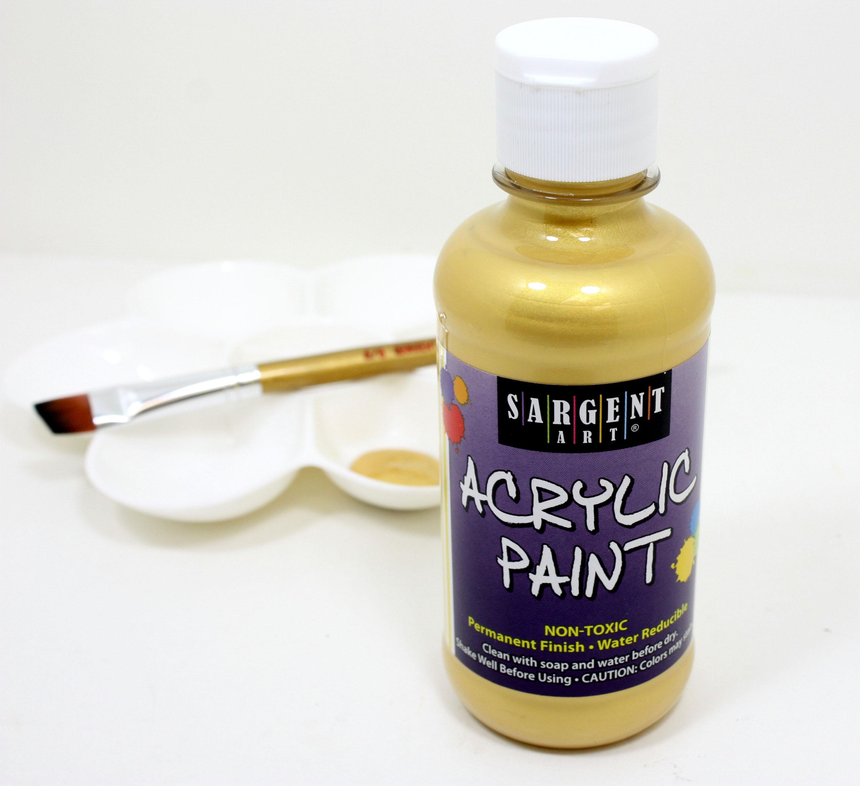 Sargent art 25 2381 8 ounce metallic acrylic for How to acrylic paint
