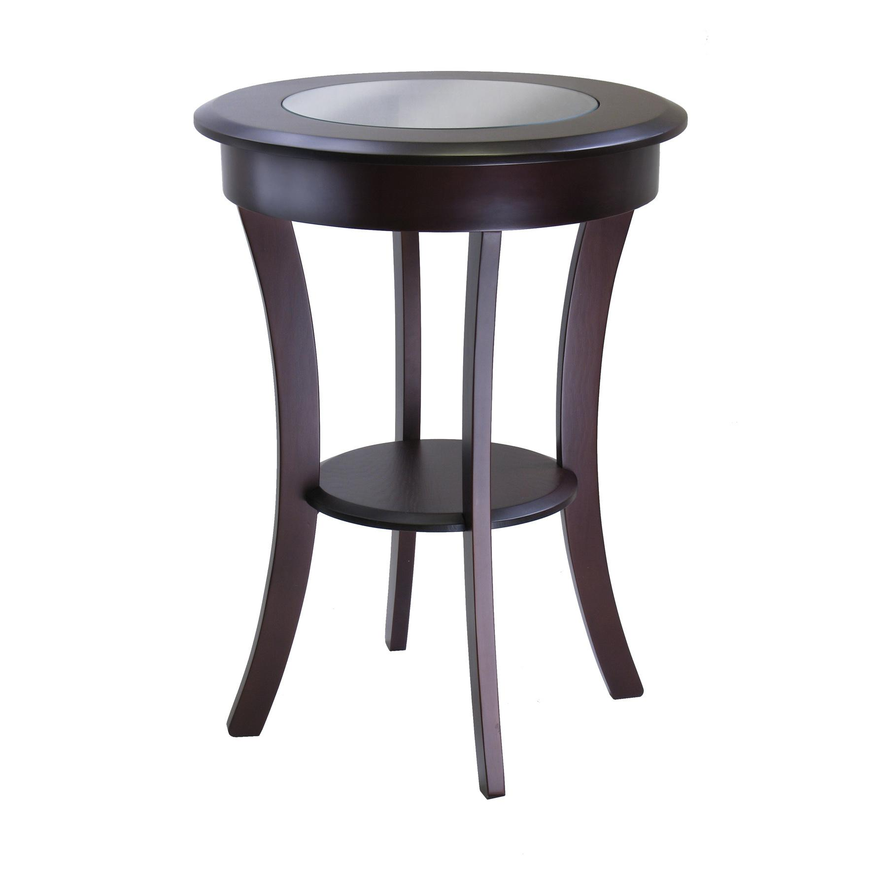 Winsome wood cassie accent table with glass for Occasional tables