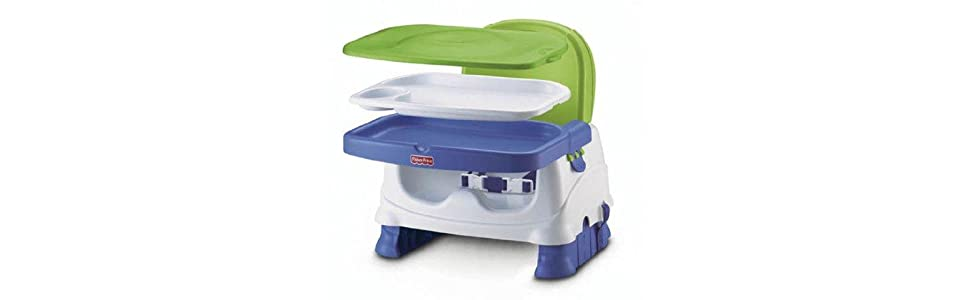 Amazon.com : Fisher-Price Healthy Care Booster Seat, Blue/Green/Gray [Amazon Exclusive] : Chair ...