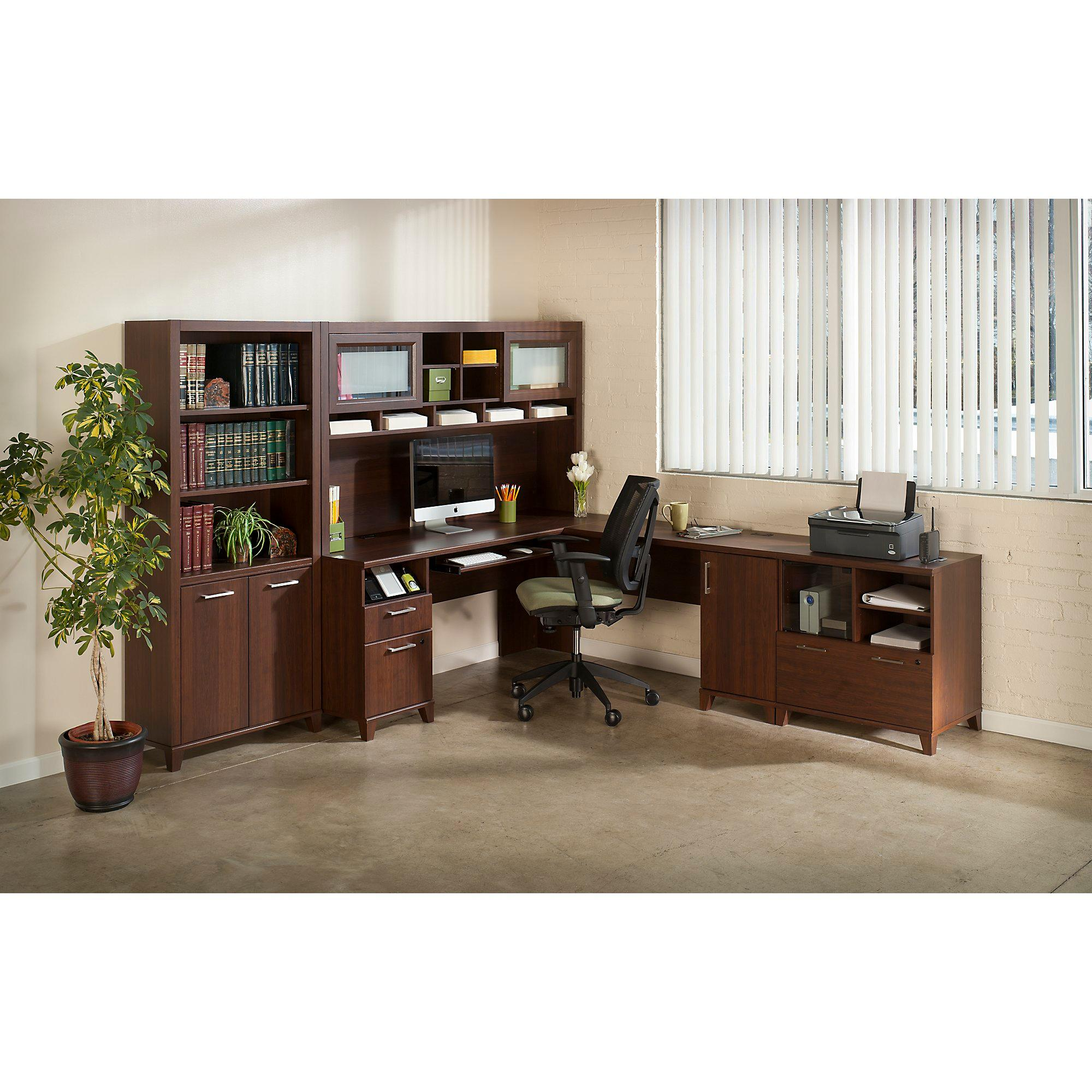 Bush Furniture Achieve Collection L Desk And