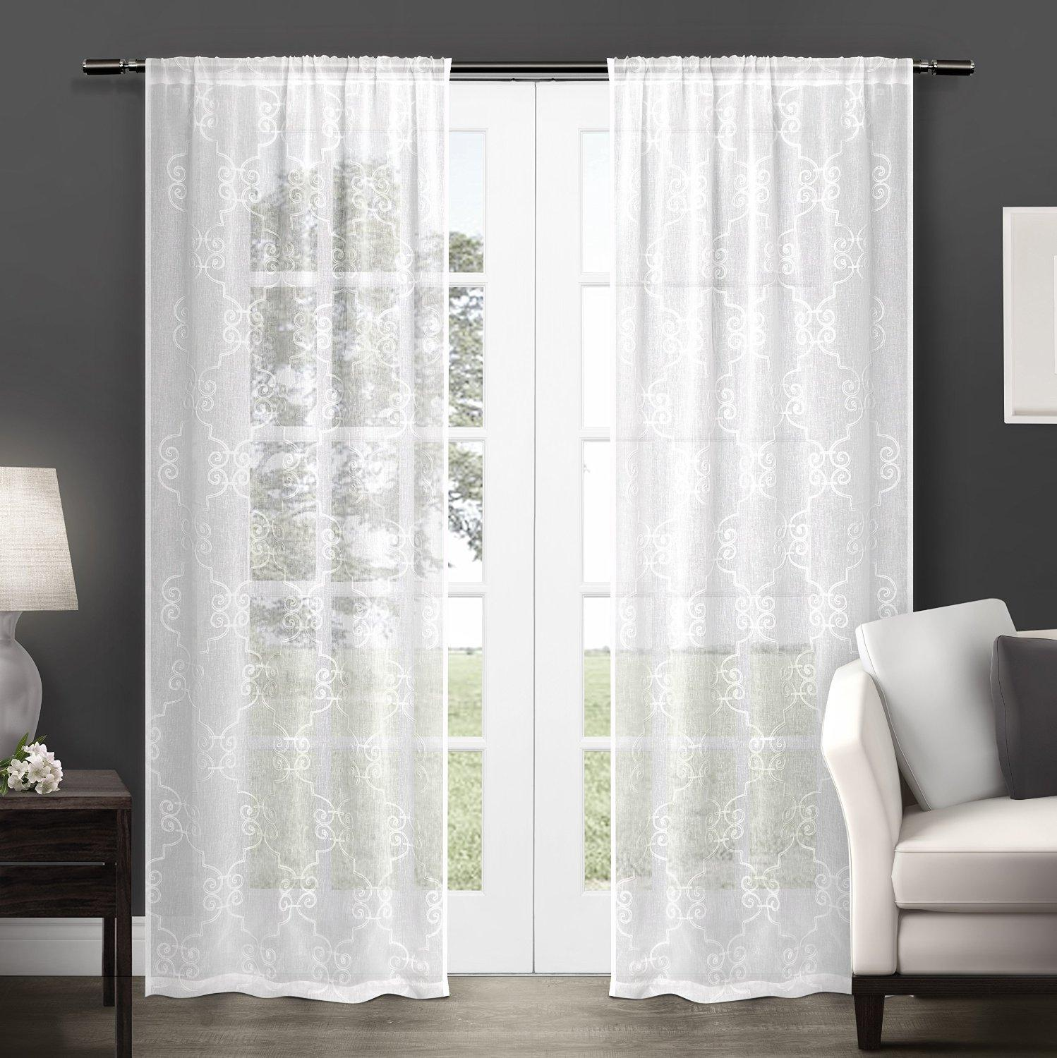 Exclusive Home Seville Embroidered Semi Sheer