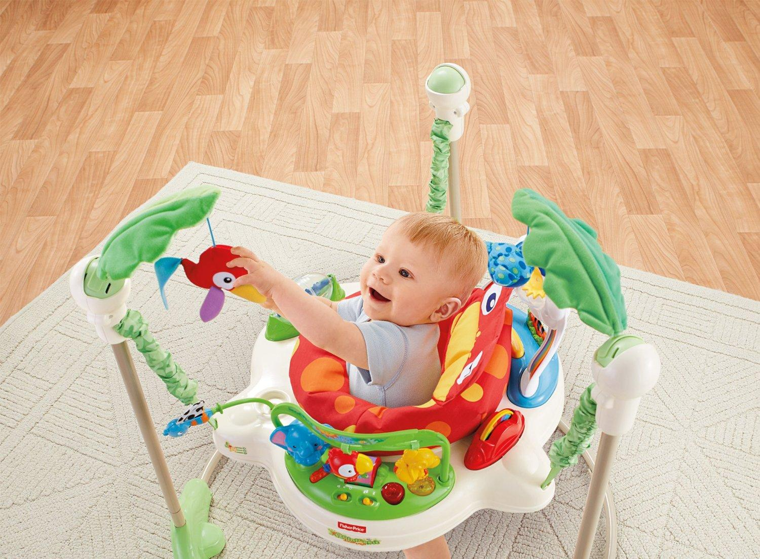 12 Month Olds Toys For Bouncing : Amazon fisher price rainforest jumperoo infant