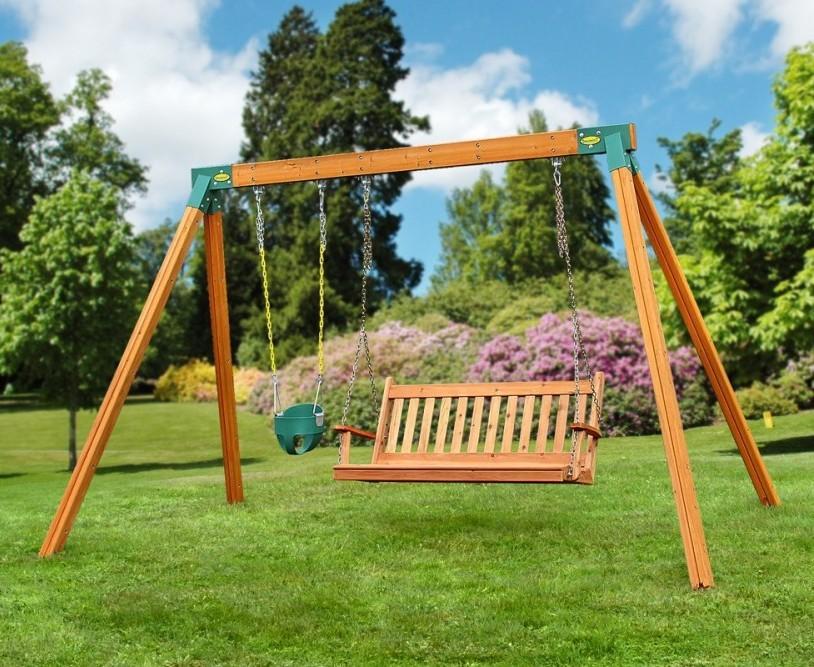 Amazon Com Eastern Jungle Gym Easy 1 2 3 A Frame Swing
